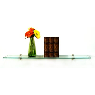 Spancraft Glass Floating Glass Bathroom Shelf - Finish: Chrome, Size: 18