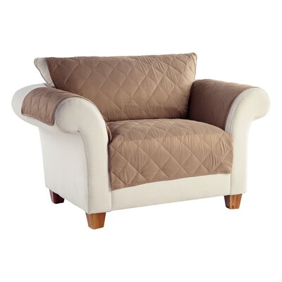 Tailor Fit Box Cushion Loveseat Slipcover Upholstery: Stonewear