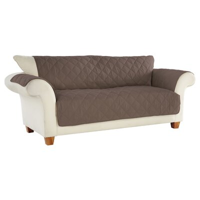 Tailor Fit Box Cushion Sofa Slipcover Upholstery: Handcast Pewter