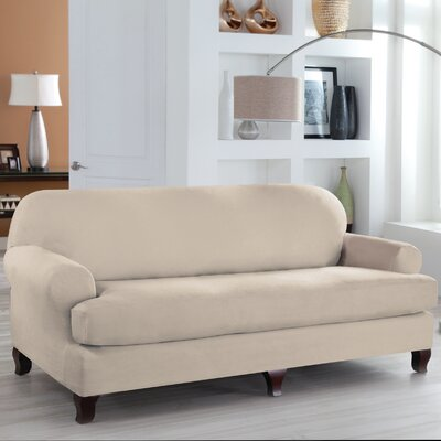 Tailor Fit 2 Piece T Cushion Sofa Slipcover Upholstery: Ivory
