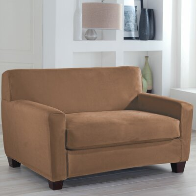Tailor Fit Loveseat Slipcover Upholstery: Camel