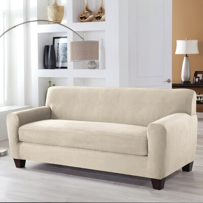 Tailor Fit Sofa Slipcover Upholstery: Ivory