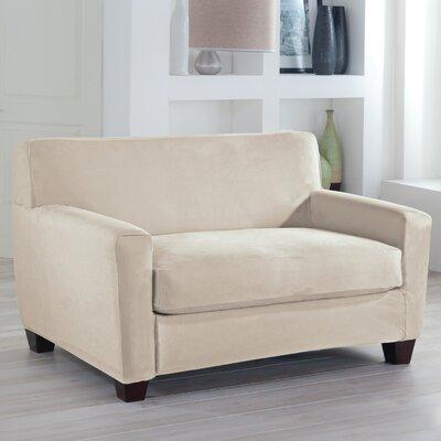 Tailor Fit Loveseat Slipcover Upholstery: Ivory
