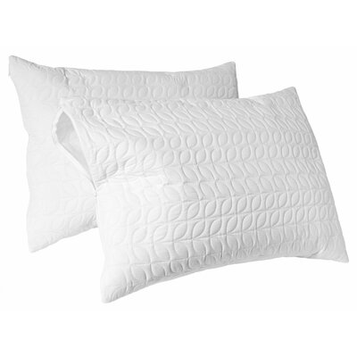 Tailor Fit Peva Waterproof Zippered Pillow Protector (Set of 2) Size: Jumbo