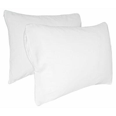 Tailor Fit Luxury Spa Hair Care Anti-Static Zippered Pillow Protector  (Set of 2) Size: Jumbo