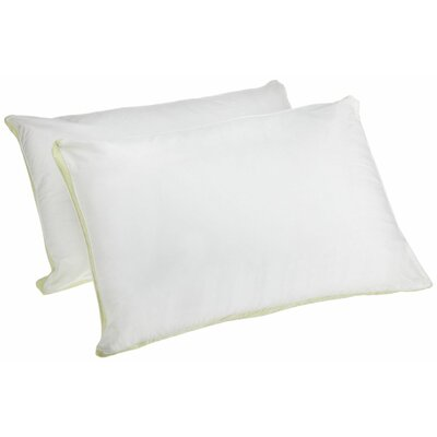 Medium Density 233 Thread-Count Quilted Sidewall Polyfill Pillow Size: Queen