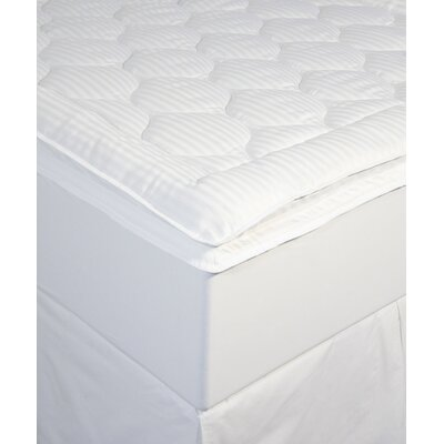 Christopher Luxury Stripe Mattress Pad Size: Queen