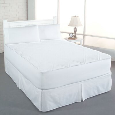 Christine Cotton Double Diamond Mattress Pad Size: Twin