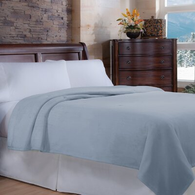 Soft Heat Macromink Warming Blanket Color: Blue, Size: Queen