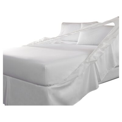 Tailor Fit Easy On Easy Off Bedskirt and Box Spring Protector (Set of 2) Size: King, Color: White