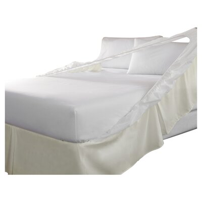 Tailor Fit Easy On Easy Off Bedskirt and Box Spring Protector (Set of 2) Color: Khaki, Size: Queen