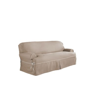 Relaxed Fit Twill T-Cushion 3 Piece Slipcover Set