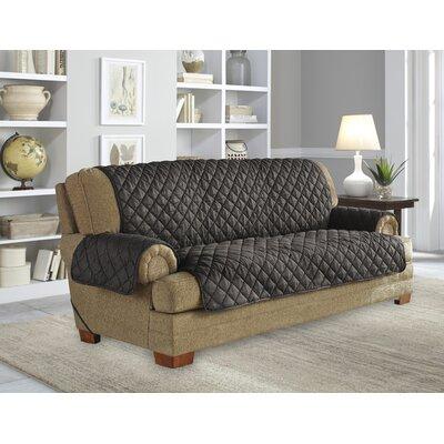 Ultimate Waterproof Box Cushion Sofa Slipcover Upholstery: Graphite
