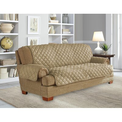 Ultimate Waterproof Box Cushion Sofa Slipcover Upholstery: Camel