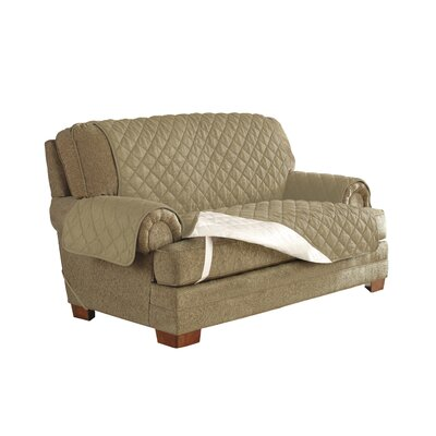 Ultimate Waterproof Box Cushion Armchair Slipcover Upholstery: Camel