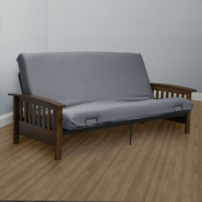 Encasement Box Cushion Futon Slipcover Upholstery: Gray