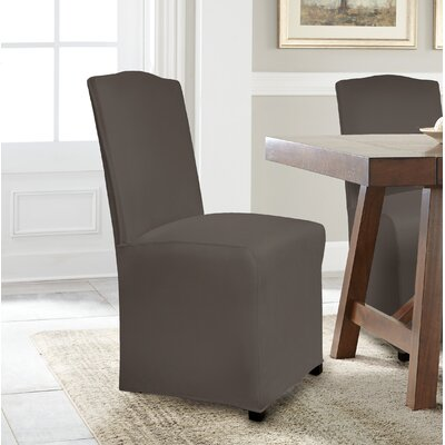 Reversible Stretch Dining Chair Slipcover Upholstery: Graphite
