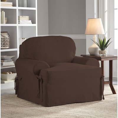 Relaxed Fit Duck Furniture T-Cushion 3 Piece Slipcover Set Upholstery: Chocolate