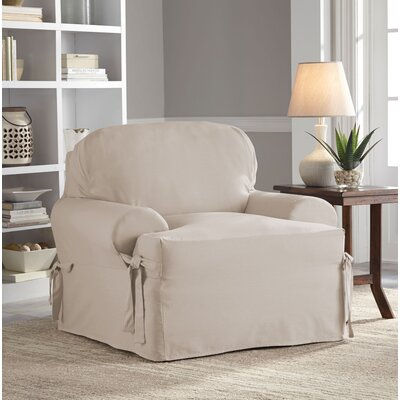 Relaxed Fit Duck Furniture T-Cushion 3 Piece Slipcover Set Upholstery: Khaki