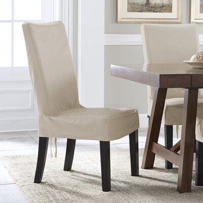 Relaxed Smooth Furniture Solid Dining Chair Slipcover Upholstery: Ivory