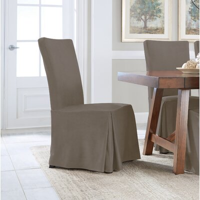 Relaxed Smooth Furniture Dining Chair Slipcover Upholstery: Gray