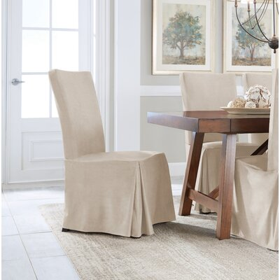 Relaxed Smooth Furniture Dining Chair Slipcover Upholstery: Ivory