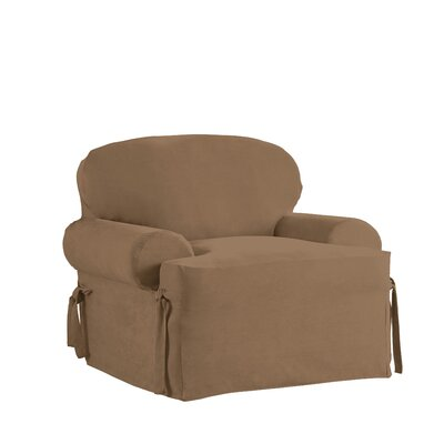 Relaxed Smooth Furniture Slipcover Upholstery: Taupe