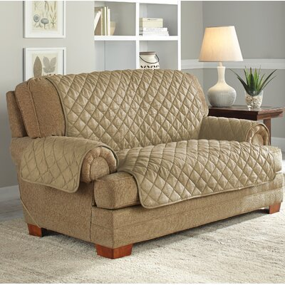 Ultimate Waterproof Box Cushion Loveseat Slipcover Upholstery: Camel