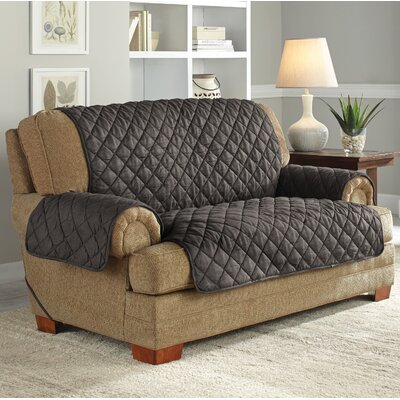 Ultimate Waterproof Box Cushion Loveseat Slipcover Upholstery: Graphite