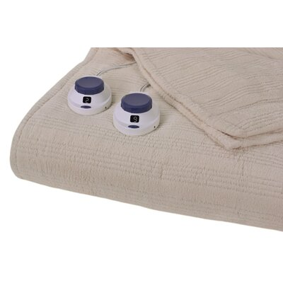 Perfect Fit Triple Rib Electric Heated Warming Blanket - Size: Queen, Color: Natural at Sears.com