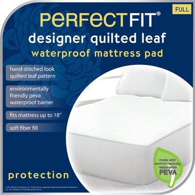 Leaf Polyester Waterproof Pad Size: Queen