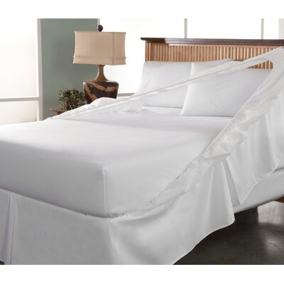 Perfect Fit Tailor Fit Easy On Easy Off Bedskirt and Box Spring Protector - Size: Full, Color: White (Set of ...