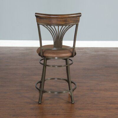 Pompen 24 Swivel Bar Stool with Cushion