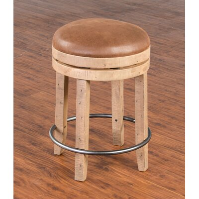 Arianna 24 Swivel Bar Stool Finish: Amber