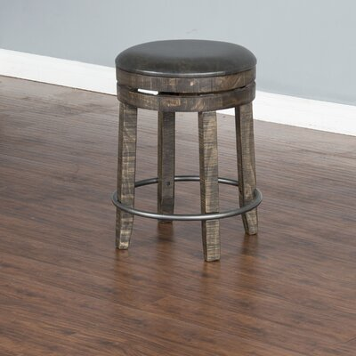 Arianna 24 Swivel Bar Stool Finish: Tobacco Leaf
