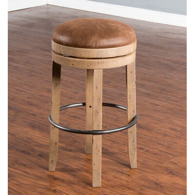 Arianna 30 Swivel Bar Stool Finish: Amber Wheat