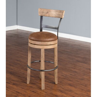 Arianna 30 Bar Stool Finish: Amber Wheat