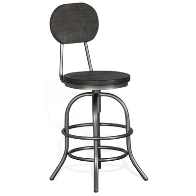 Keri Traditional Adjustable Height Swivel Bar Stool