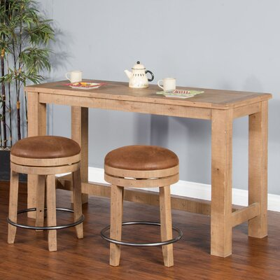 Cortney Counter Height Dining Table Finish: Amber Wheat