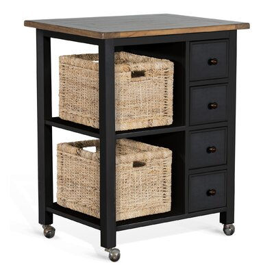 Hounsfield Kitchen Island Base Finish: Black