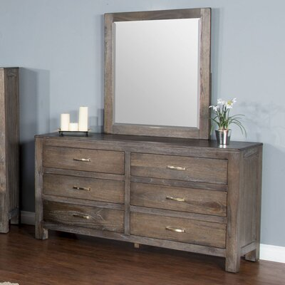 Cortney 6 Drawer Dresser with Mirror