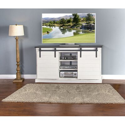 Laoise European Cottage Barn Door 65 TV Stand
