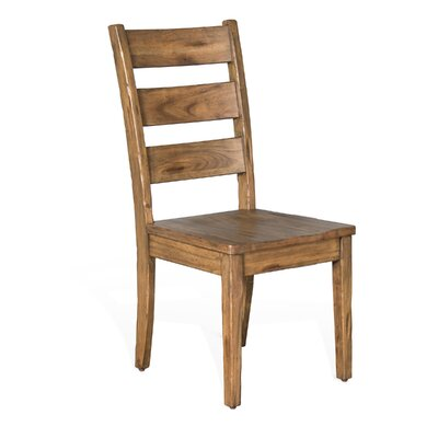 Joliette Dry Leaf Ladderback Solid Wood Dining Chair