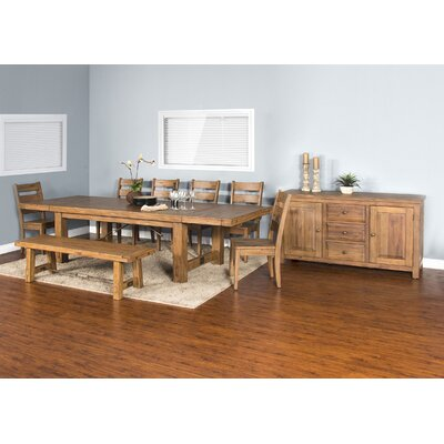 Joliette Dry Leaf 8 Piece Dining Set