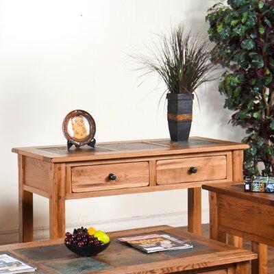 Cheap Sunny Designs Sedona Sofa/Console Table with Slate Top in Rustic Oak (SDZ1111)
