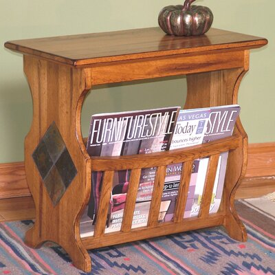 Buy Low Price Sunny Designs Sedona Magazine Table in Distressed Oak (SDZ1186)