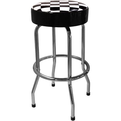 Checker Flag 30.5 Bar Stool