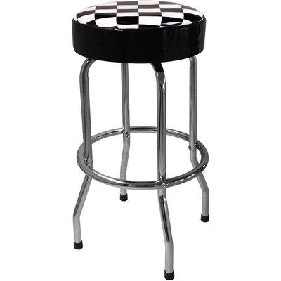 Checker Flag 30.5 Bar Stool
