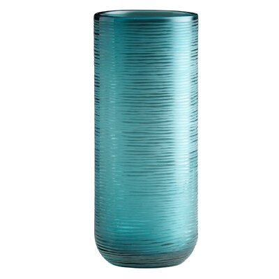 Cyan Lay out 04358 Medium Libra Vase in Aqua