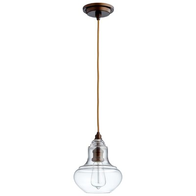 Camille 1-Light Mini Pendant Shade Color: Clear